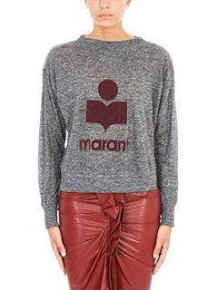 Isabel Marant Etoile-Maglia Kilsen in cotone e lino grigio melange