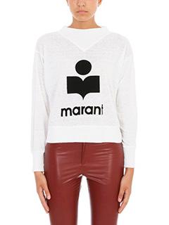Isabel Marant Etoile-Maglia Kilsen in cotone e lino bianco