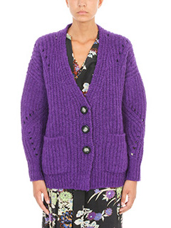 Isabel Marant-Favian purple wool cardigan