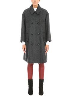 Isabel Marant Etoile-Cappotto Flicka in lana grigia