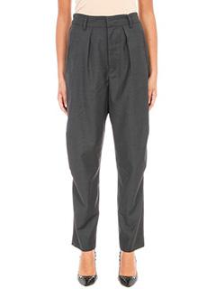 Isabel Marant Etoile-Pantaloni Minura in lana grigia