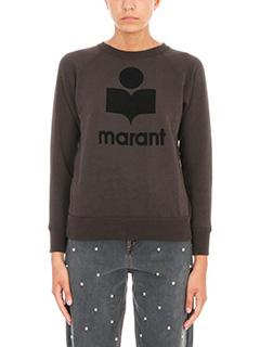 Isabel Marant Etoile-Felpa Milly in cotone nero