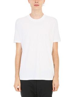 Jil Sander-T-shirt Basic in cotone bianco