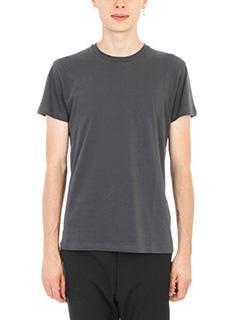 Jil Sander-T-shirt Basic in cotone grigio