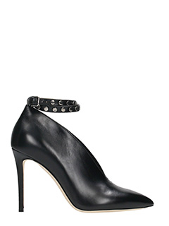 Jimmy Choo-Lark 100 black leather pumps
