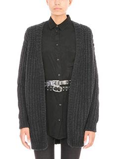 Iro-Cardigan Yahk in lana grigia antracite
