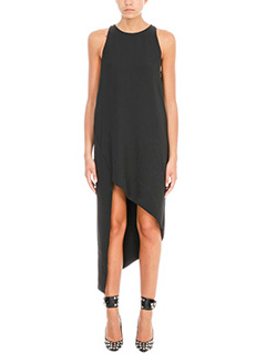 Iro-Hamlin Asymmetric High-Low black dress