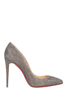 Christian Louboutin-Decollet� Pigalle Folliers in pelle gliteer argento