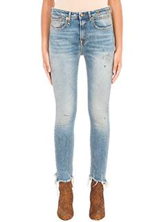 R13-Jeans Jenny in denim celeste
