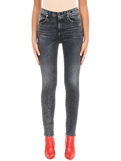 R13-Jeans High Rise Skinny in denim nero