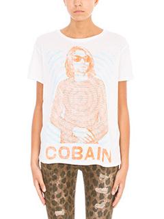 R13-Kurt Boy White cotton cashmere blend T-shirt