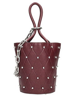 Alexander Wang-Borsa Mini Roxy in pelle bordeaux