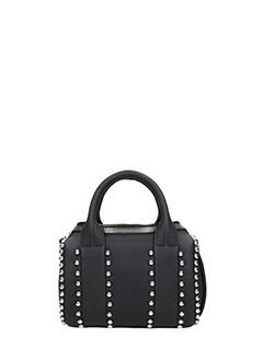 Alexander Wang-Borsa Ball Stud Mini Rockie in pelle nera