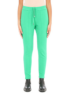 T by Alexander Wang-Pantaloni Pull on leggings in cotone verde