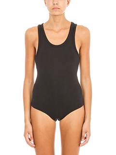 T by Alexander Wang-Body in cotone a coste nero