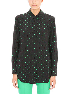 T by Alexander Wang-Camicia in seta nera verde