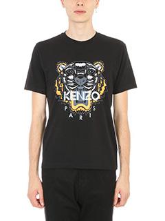Kenzo-Tiger T-shirt black cotton