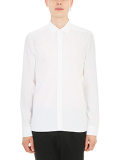 Kenzo-globe white cotton shirt