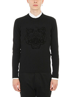 Kenzo-Velvet Flocket Tiger sweater