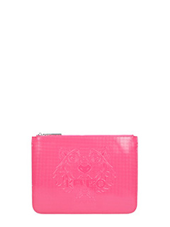 Kenzo-Clutch A4 Tiger in pvc rosa