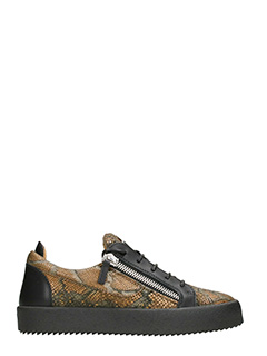 Giuseppe Zanotti-Low Top Frankie brown black sneakers