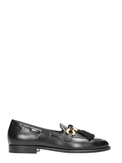 Giuseppe Zanotti-Jeans Pierre Leather black loafers