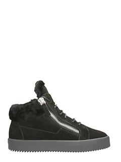 Giuseppe Zanotti-Sneakers in camoscio nero