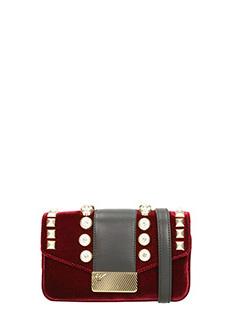Giuseppe Zanotti-burgundy velvet clutch