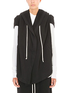 Rick Owens DRKSHDW-Hooded Cotton-fleece Sweatshirt