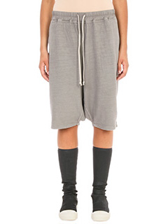 Rick Owens DRKSHDW-Pod drop-crotch track grey short