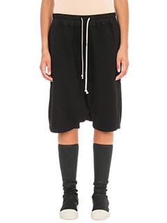 Rick Owens DRKSHDW-Shorts Pod in cotone nero
