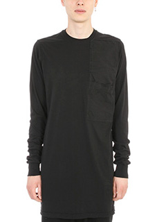 Rick Owens DRKSHDW-T-shirt Tonal Patchwork in cotone nero