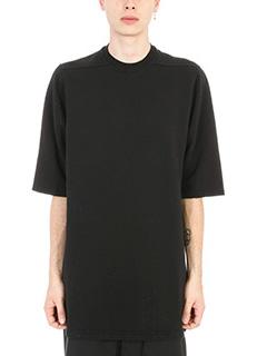Rick Owens DRKSHDW-T-shirt Jumbo in cotone doppio filo nero