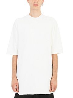 Rick Owens DRKSHDW-T-shirt Jumbo in cotone bianco