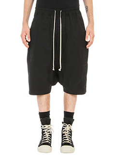Rick Owens DRKSHDW-Shorts Basket in cotone nero