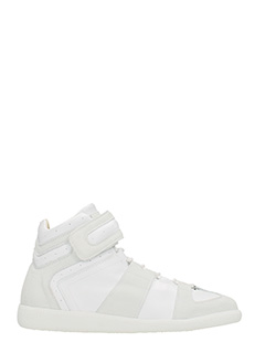 Maison Margiela-White leather and suede sneakers