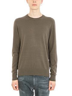 Maison Margiela-military green wool pullover