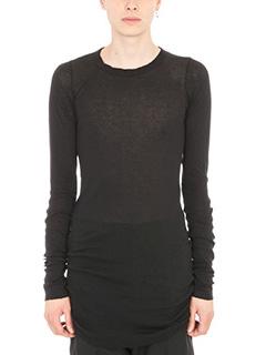 Rick Owens-T-shirt in viscosa nera