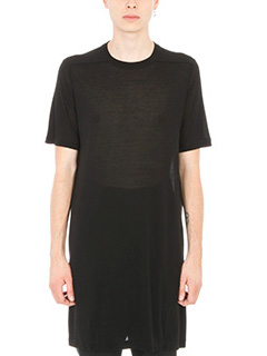 Rick Owens-T-shirt in viscosa nera