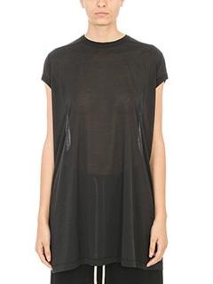 Rick Owens-Black silk T-shirt