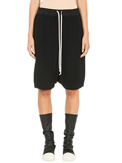 Rick Owens-black cotton Pod shorts