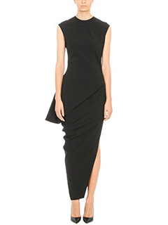 Rick Owens-Warlus  Asymmetric black Dress