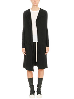 Rick Owens-Draped open front cardigan coat