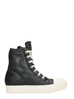Rick Owens-Hi-Top Shearling sneakers