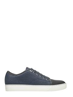 Lanvin-Sneakers dbb1 in camoscio blu