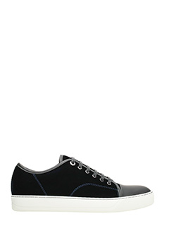 Lanvin-Sneakers Toe Cap in velluto nero