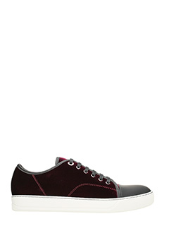 Lanvin-Sneakers Toe Cap in velluto bordeaux