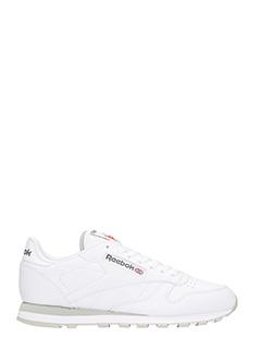 Reebok-Sneakers Classic in pelle bianca