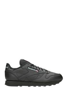 Reebok-Classic black leather sneakers