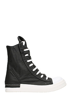 Cinzia Araia-Sneakers Hi-Top in pelle nera